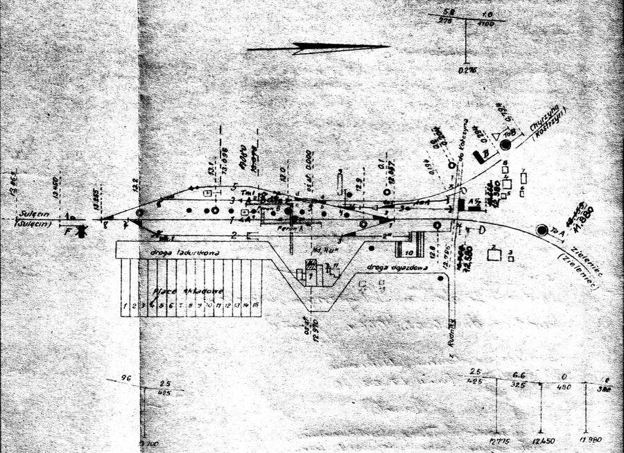 Plan stacji Rudnica z 1947 r.