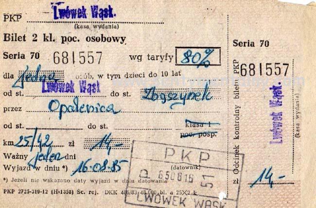 bilety, gdy kolejka miała sto lat.
