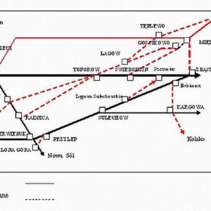 Plan rozbudowy od 1900 roku.