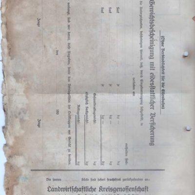 List przewozowy z około 1915 roku.
