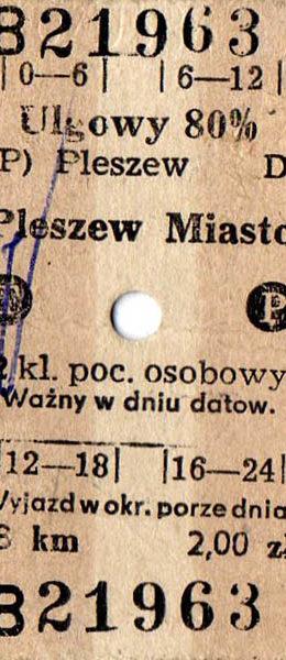 Bilet z dnia 02.02.1988 roku.