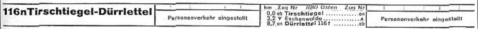 Rozkład jazdy pociągów z 1935 roku. Ruch pociągów osobowych zawieszony
