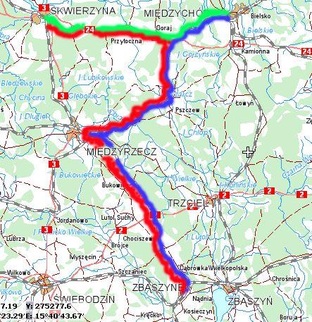 Mapka przejazdu Pociągu Specjalnego