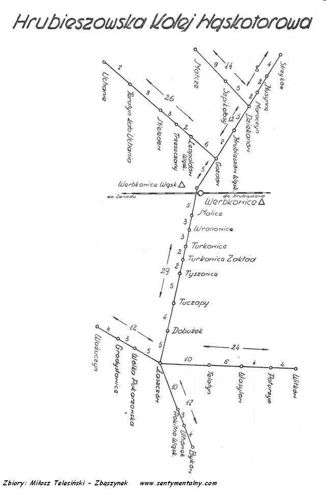 plan kolejki z 1959 roku.