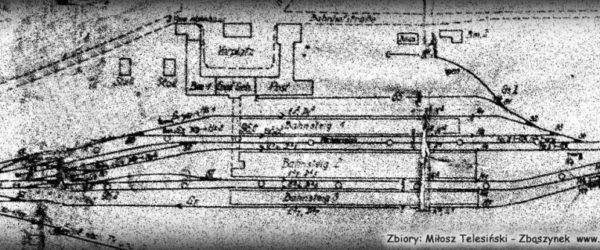 Widok części osobowej dworca z 1940 roku.