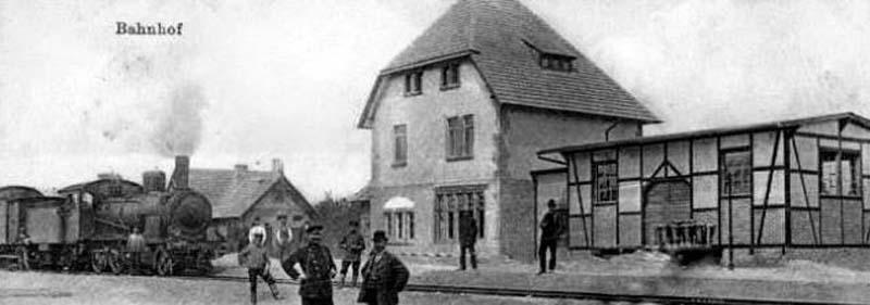 Stacja Rudnica na starej widokówce – 1920 r.