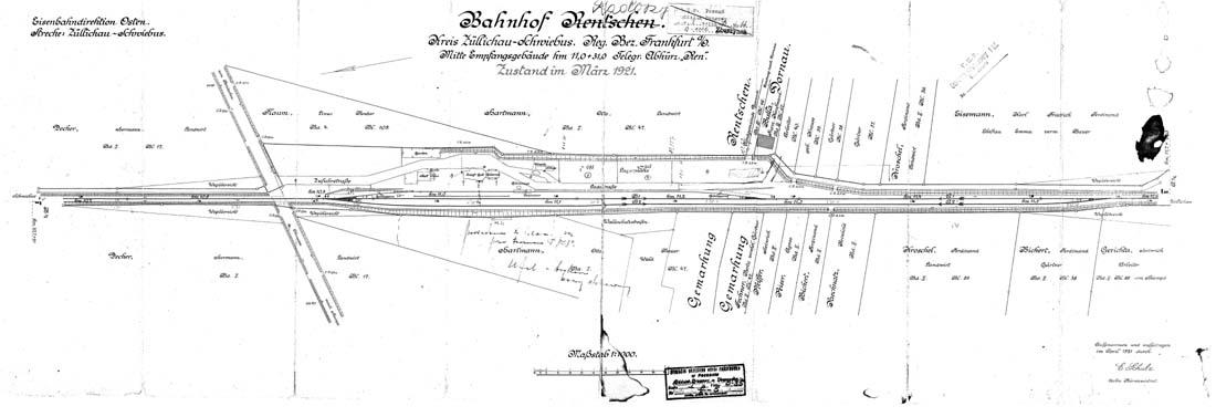 Plan stacji Radoszyn z 1921 roku.