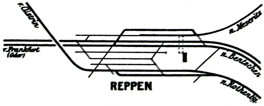Plan stacji z 1914 roku.