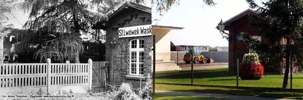 Lwówek Wlkp. w dniu 13.09.1986 i 01.10.2017 roku.