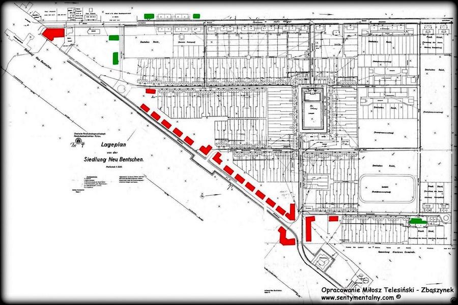 plan zawiera nie wybudowane obiekty, planowane w 1931 roku.