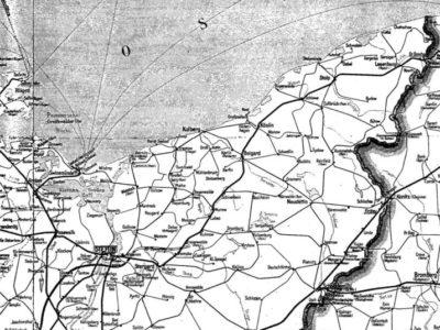 Mapka z rozkładu 1937 rok.