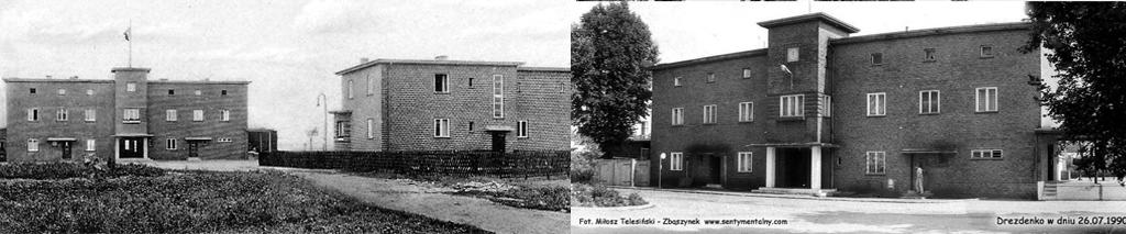 Wyżej zdjęcia dworca przed 1945 rokiem oraz w 1990.