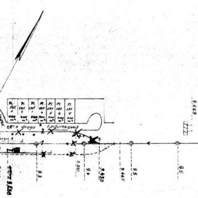 Plan stacji 1949