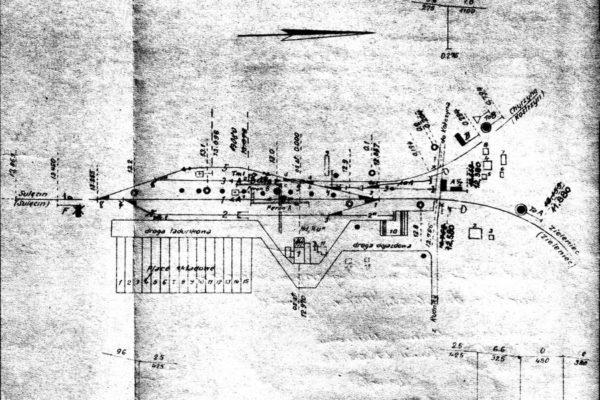 Plan stacji Rudnica z 1950 r.