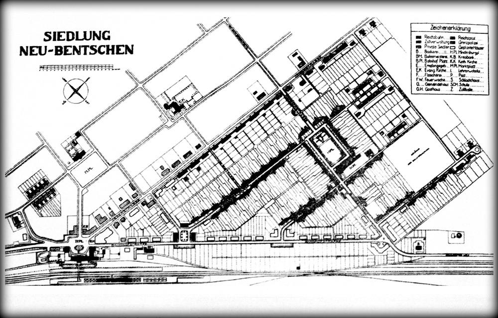 Plan Zbąszynka (Neu Bentschen) z 1931 roku.