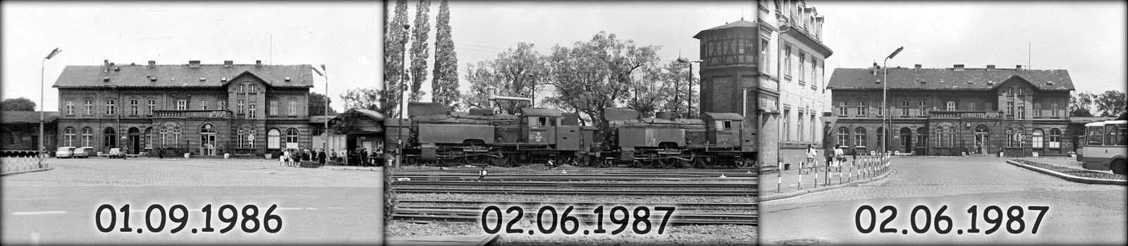 Zdjęcia dworca po roku, ukazują zamienione zegary.