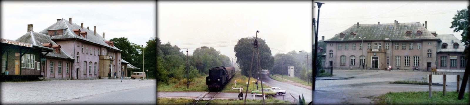 Gołdap w dniu 29.09.1990. Ol49-9 z Ełku, wjeżdża na stację Gołdap w dniu 02.09.1989. Gołdap w dniu 02.09.1989.