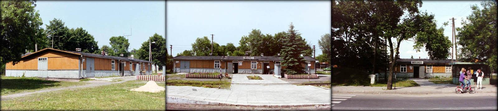 Dworzec w Bełżcu w dniach 20.06.1992 i 27.06.1992 (jako trzeci).
