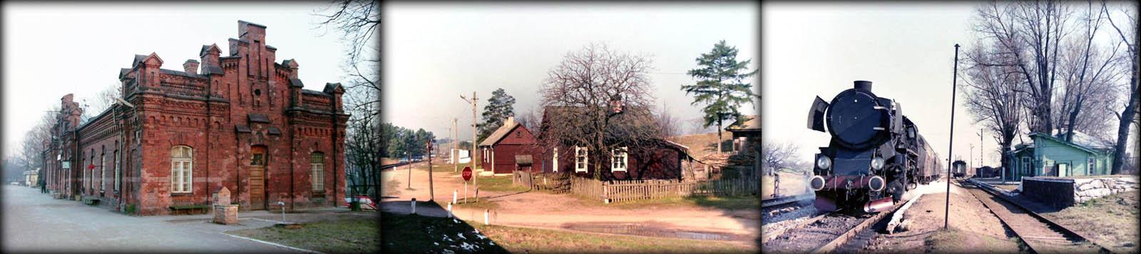 Stacja w Suwałkach w dniu 23.02.1995 , Stacja Kaletnik od strony Trakiszek w dniu 22.09.1990. Trakiszki 05.04.1989. Ty2-1252 ze składem gotowy do Suwałk.