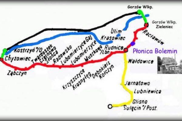 Widok ogólny zwązany z rozbiórką linii Rudnica - Sulęcin i połączenia kolei w Rudnicy.