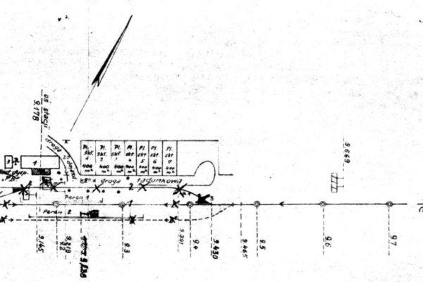 Plan stacji Płonica - Bolemin z 1949 roku