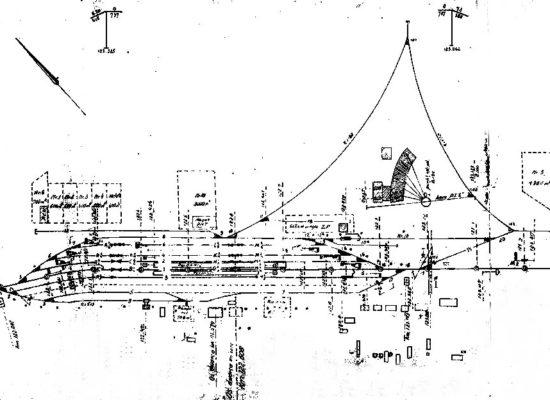 Plan stacji z 1950 roku