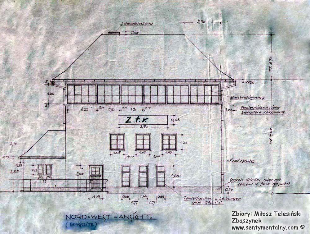 Fragment planu nastawni Zk-13 z 1941