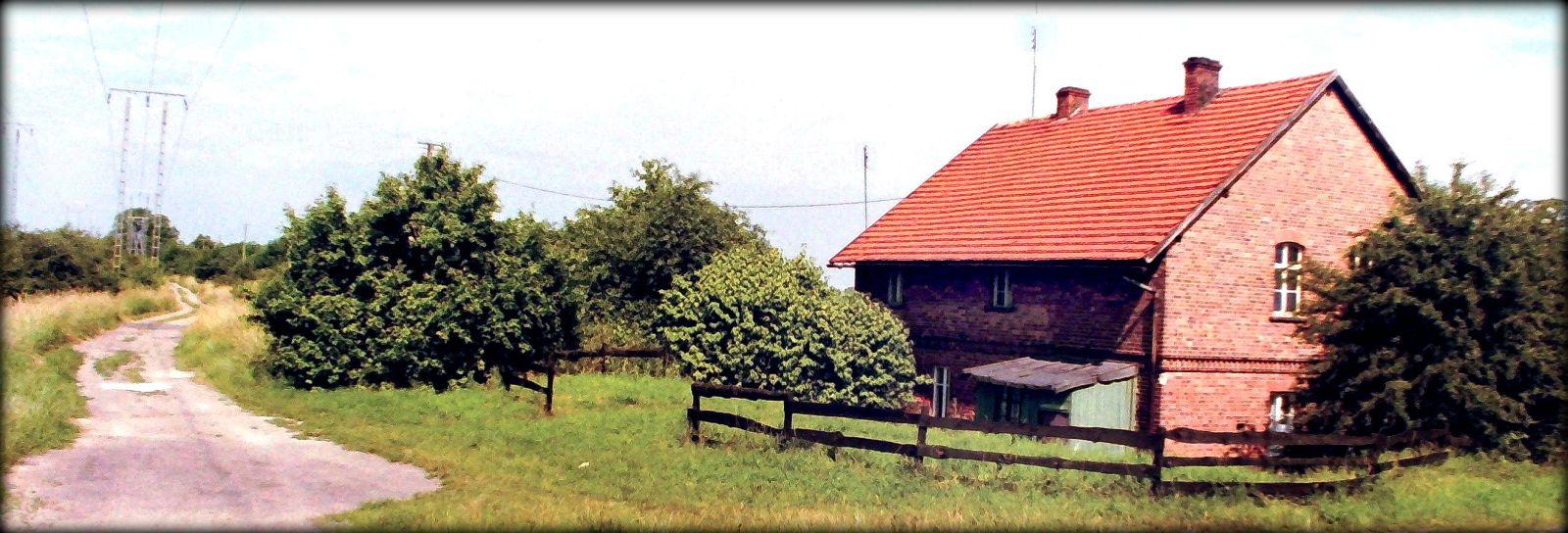 Prosto miejsce po torze w stronę Szczańca (Berlina), w prawo droga bita do Dąbrówki Wlkp. Foto z dnia 15.06.2002 roku.