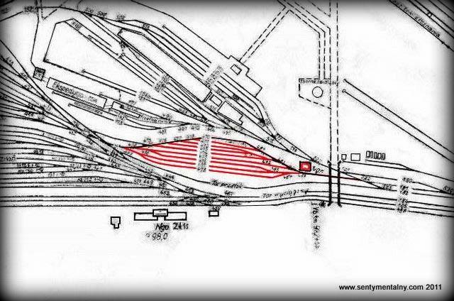 Czynne do 1930 roku tory rozrządu płaskiego, gdy nie było jeszcze górki rozrządowej znajdującej się w górnej części torów dworca towarowego. Był to rejon torów podległy nastawni Ngn