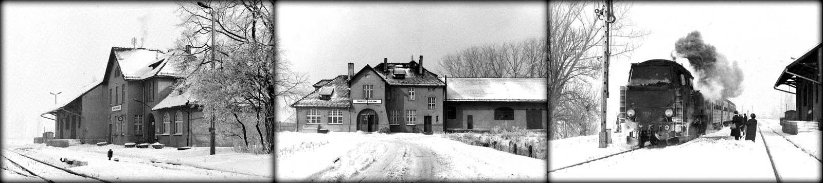 Kępno Zachodnie w dniu 12.02.1991. Tkt48-129 z Kępna do Namysłowa.