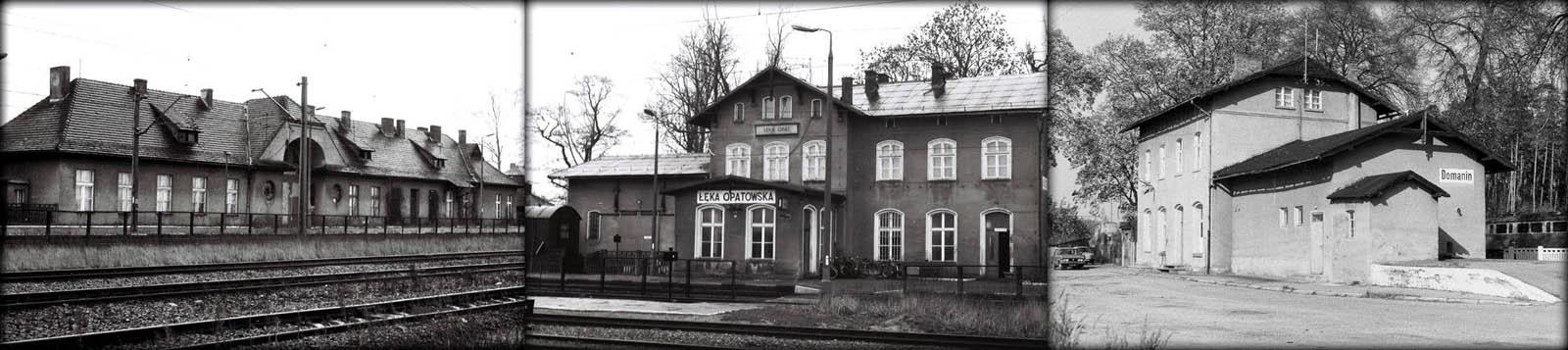 Od lewej Łęka Opatowska 10.01.1990. Z prawej Domanin 12.11.1990.
