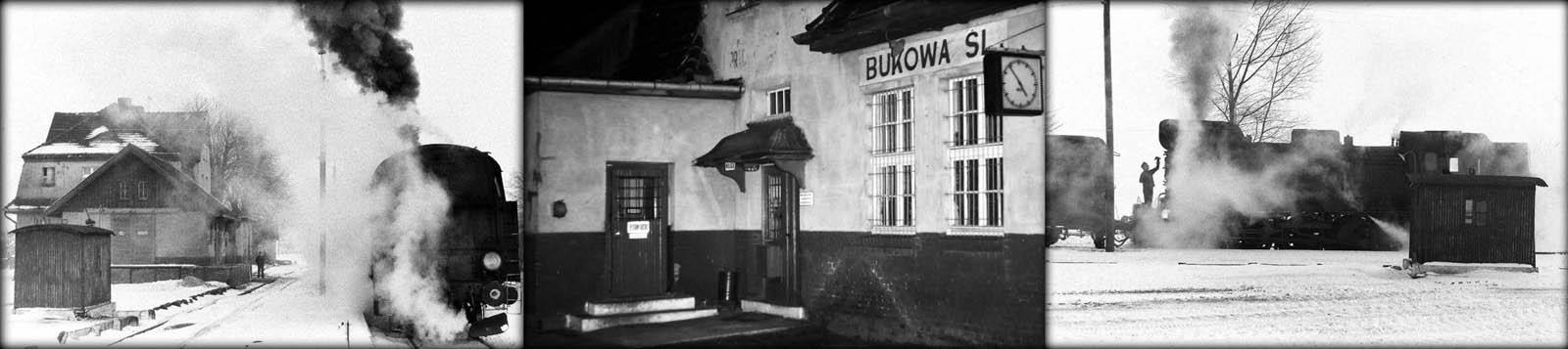 Z lewej i prawej stronie Tkt48 z pociągiem Kępno - namysłów w dniu 12.02.1991. Foto w środku wykonane w dniu 28.01.1990