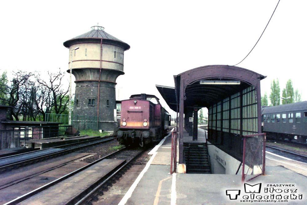 Kostrzyn 03.05.1992 roku. Kostrzyn 03.05.1992. Pociąg służbowy z Kietz.
