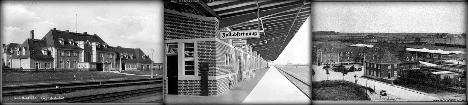 Od lewej: Dworzec do 1944 roku, przed wybudowaniem przejścia podziemnego Widaać przejście kładką. Peron celny drugi. Po prawej nie ma jeszcze peronu trzeciego. Widok z 1930 roku.