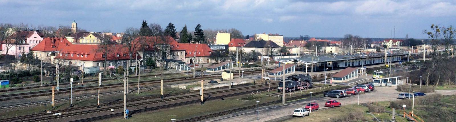 Dworzec osobowy w Zbąszynku 25 lutego 2016.