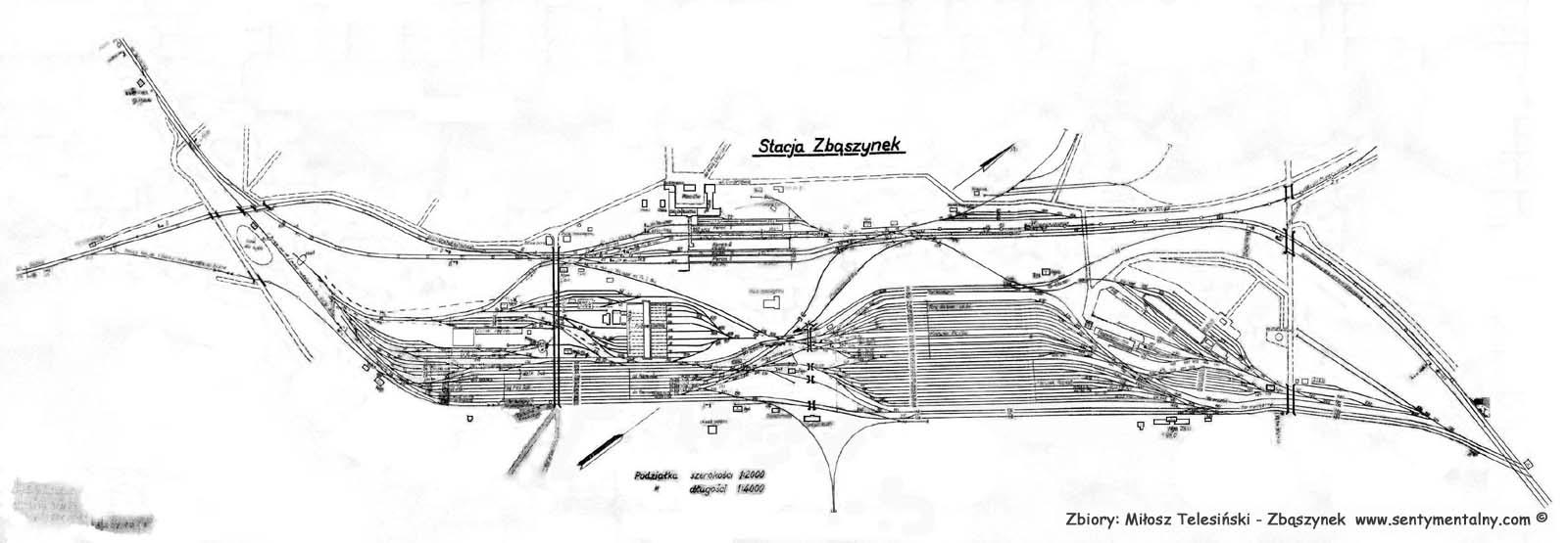 Wyżej mamy ogólny plan dworca z 1941 roku.