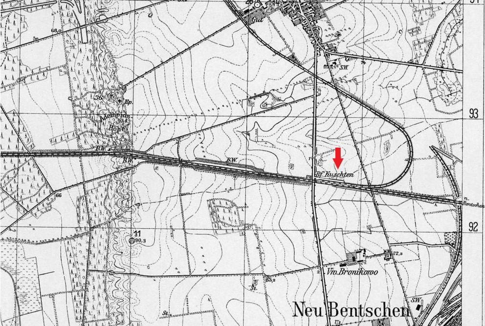 Tymczasowy przystanek Kosieczyn czynny w latach 1923 - 1930. Zapewniał on komunikację osiedlającym się pierwszym mieszkańcom z międzyrzeczem oraz w kierunku zachodnim. Istniał do 30.04.1930 roku.